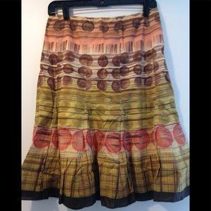 Talbots skirt beautiful fall colors - 6 Petite